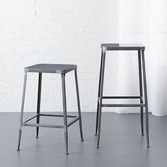 "flint steel 24"" counter stool | CB2"