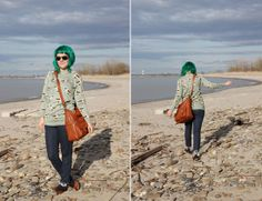 The Dainty Squid: what I wore : seagulls and polka dots