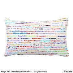 Kings Hill Text Design II Lumbar Pillow