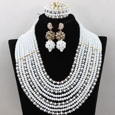 10 layer African Nigerian crystal beads wedding Party by Eaoza