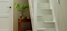 Captivating Space Saver Staircase Design Inspirations In White of ...