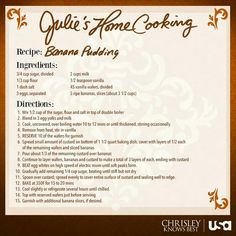 "Recipe from Julie Chrisley! It's a ""must"" try!"