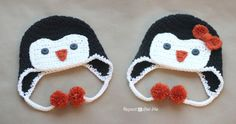 Crochet Penguin Hat Pattern - Repeat Crafter Me free pattern