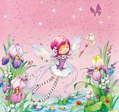Pink fairy by Marina Fedotova Art Mignon, Illustration Noel, Fairy Princesses, Kids Prints, Fairy Art, Faeries, Cute Art, Painting & Drawing, Cute Pictures