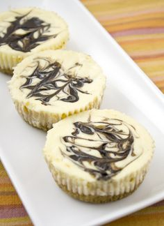 Cheesecake Cupcakes with Chocolate Swirls