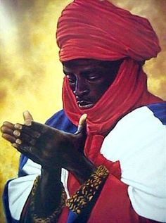 Silent Pray Poster Print by Obao x African American Art, African Art, African Paintings, Black History Facts, Art History, European History, Moorish Science, Moroccan Art, African Royalty