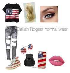 """Delilah's normal wear"" by carrollgabriel on Polyvore featuring Chicnova Fashion, Converse, Casetify and Lime Crime"
