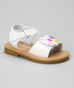 Loving this White Patent Shooting Star Sandal on #zulily! #zulilyfinds