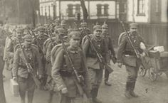 German soldiers on the march.
