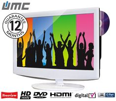 """22"""" LCD TV With DVD & Media Player"""