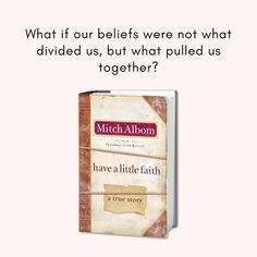 Mitch Albom, True Stories, Money Clip, Faith, Money Clips, Loyalty, Believe, Religion