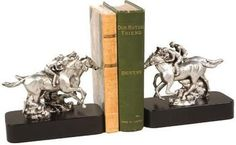 Bookends Bookend Horse Photo Finish Single Cast Resin New Hand-Painted Ha OK-815