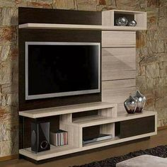 Browse our gallery of modern TV wall units and tips for how to integrate the modern TV wall unit designs for living room and modern TV stands in the living room interior, modern TV units Tv Unit Decor, Tv Wall Decor, Tv Cabinet Design, Tv Wall Design, Muebles Rack Tv, Backdrop Tv, Lcd Panel Design, Modern Tv Wall Units, Tv Unit Furniture