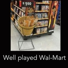 Well played walmart *nods head in appreciation* (break by the hunger games ad)