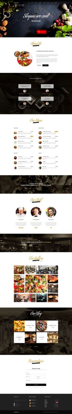 Hungry – A WordPress One Page Restaurant Theme on Inspirationde