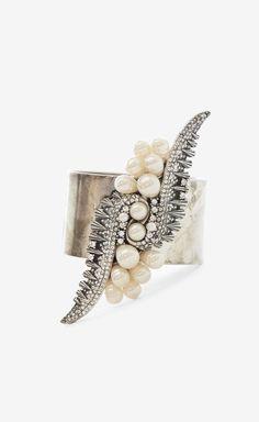 Dannijo Silver, Crystal And Pearl Bracelet   VAUNTE