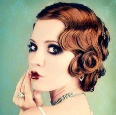 Vintage Auburn Pin Curls | Formal, Wedding | Careforhair.co.uk