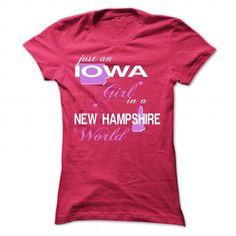 I Love V5-IOWA-NEWHAMPSHIRE GIRL Shirts & Tees