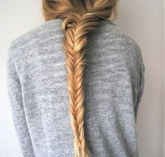 Long fishtail braid...love this. I did it for the first time today!