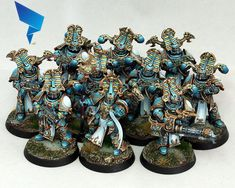 Warhammer 40k Figures, Warhammer Paint, Warhammer 40000, Chaos 40k, 40k Armies, Thousand Sons, Mini Paintings, Space Marine, Miniture Things