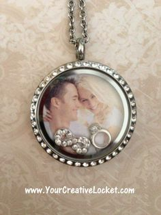 The perfect keepsake for your wedding, floating lockets from South Hill Designs! https://southhilldesigns.com/holliebethhorn