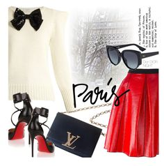 """I Love Paris in the Fall"" by smartbuyglasses-uk ❤ liked on Polyvore featuring Yves Saint Laurent, Louis Vuitton, Marc Jacobs, Christian Louboutin and fallgetaway"