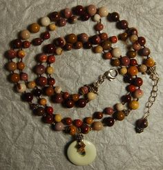 Hand knotted natural moukaite lemon chrysophase by jancashdesigns1