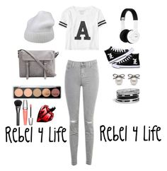 """Rebel 4 Life #1"" by fanfic123fanatic ❤ liked on Polyvore featuring Aéropostale, J Brand, Nixon, Forte Forte, GUESS, Gucci and Lancôme"