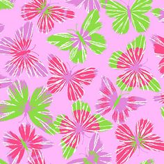 "Creative Cuts Cotton 44"" wide, 2 yard cut fabric - Modern Butterfly, Pink"
