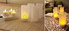 DI CLASSE, Cuore rechargeable LED candle