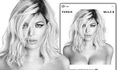 Fergie topless in a black-and-white image ahead of her second album release | Daily Mail Online