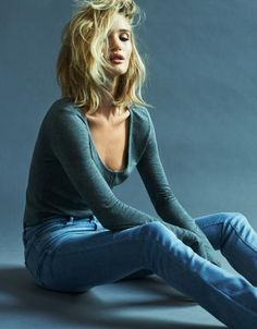 HAIR! Paige Denim AW 2015 Campaign | Rosie Huntington-Whiteley