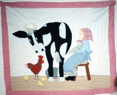 My daughter always wanted to milk a cow when she was young.  When I found this pattern, I had to make it for her.  Circa 1993.