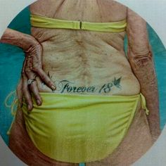 This is what your tatt will look like in 40 years: 14 old people with tattoos Dumbest Tattoos, Just For Laughs, Belle Photo, Getting Old, Laugh Out Loud, The Funny, Make Me Smile, I Laughed, Funny Pictures