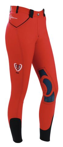 RIJBROEK COVALLIERO BALI - (Netherlands) Breeches in red with knee patch