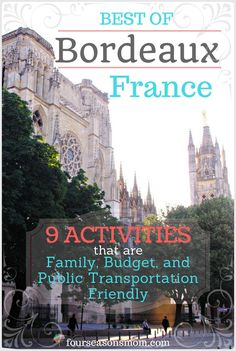 Looking for things to do in Bordeaux, France? Here are some ideas of free or mostly free things you can do. They are all toddler/kid friendly and don't require a car. Enjoy your vacation, holiday, or adventure! Full details, brief trivia and pictures on the blog :)