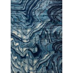 Alexander Home Phaedra Abstract Indigo/ Blue Rug (5'0 x 7'6) (Indigo/ Blue (5'0 x 7'6)), Size 5' x 7'6