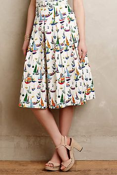 Smooth Sailing Midi Skirt - anthropologie.com