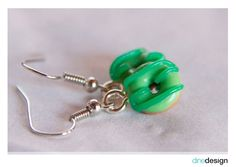 dinedesign - Earrings - Donuts green