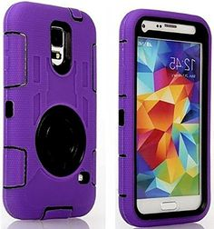 "myLife Three Layer Shockproof ""Built In Screen Protector"" Security Armor Case for Galaxy S5 by Samsung {Bright Purple and Puma Black with Ring Stand ""Protective Tuff Shell Design"" Hybrid Triple Piece BOX Protector Shield with Rubberized Gel} myLife Brand Products http://www.amazon.com/dp/B00QR2U3WU/ref=cm_sw_r_pi_dp_vL-Xub1NX9HES"