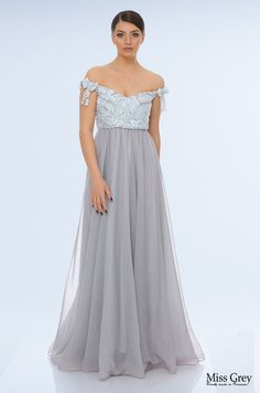 Our gray Daisy maxi dress is the epitome of elegance and femininity. Maxi Dresses, Bridesmaid Dresses, Formal Dresses, Wedding Dresses, Femininity, Daisy, Fashion, Bridesmade Dresses, Dresses For Formal