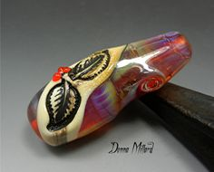 SRA HANDMADE LAMPWORK Autumn Focal Bead by Donna Millard