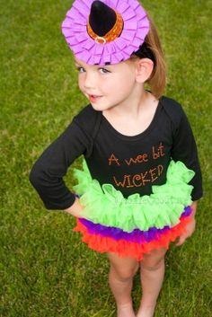 A Wee Bit Wicked Witch Halloween Tutu Onesie