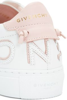 4ced9e5d59085c Givenchy - White   Pink Logo Urban Knots Sneakers