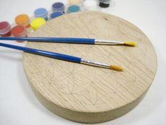 DIY Fleur de Vie à peindre en bois Ø 21cm essence chêne