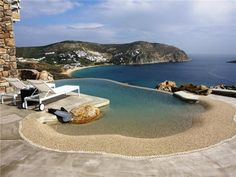 House made of  stone on the magical Greek Island, Mykonos.