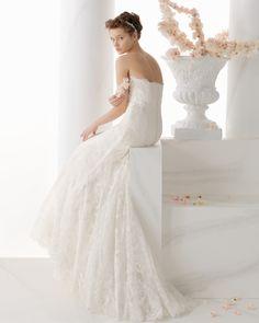 179 NORDICO | Wedding Dresses | 2014 Collection | Alma Novia | Shown without Bolero (back)