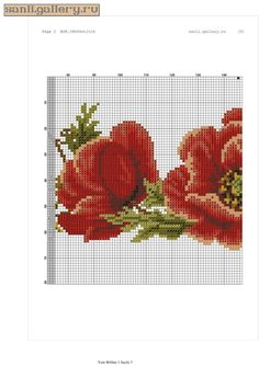 Gallery.ru / Фото #2 - gelincik.0122 - sanli Hand Embroidery Designs, Embroidery Stitches, Cross Stitch Flowers, Cross Stitch Patterns, 13 Tattoos, Sewing Patterns, Knitting, Canvas, Floral