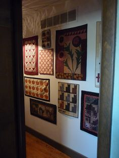 wall of quilts