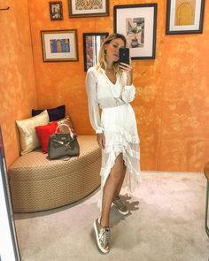 Summer Outfits, Cute Outfits, All White, Foto E Video, Girl Power, Everyday Fashion, Spring Summer, Street Style, Shirt Dress